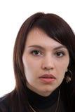 Recht brown-haired Frau Lizenzfreie Stockbilder