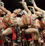 Recht chinesische Tänzer Stockbild