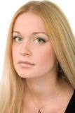 Recht green-eyed Blondine Stockbilder