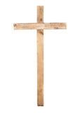 Recht houten kruis Royalty-vrije Stock Foto