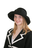 Recht junge Dame im formalen Dr. Stockfotos
