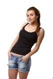 Recht junge Frau Lizenzfreie Stockbilder