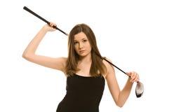 Recht junge Frau lizenzfreie stockfotos