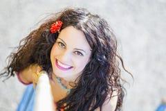 Recht junge Frauen-Portrait Stockfoto