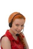Recht junger Call-Center-Betreiber Lizenzfreies Stockfoto