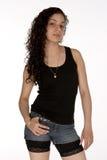 Recht junger Latina mit Fluglage Lizenzfreies Stockbild