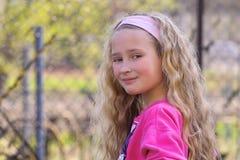 Recht junges Mädchen Stockbild