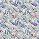 Recht kühles nahtloses Muster, erzeugt auf der Basis von verdrehten spinnenden Zeitungen Stockbild