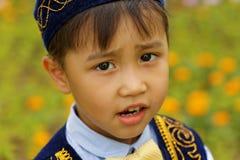 Recht kleiner Kazakhjunge Stockbild