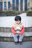 Recht kleines chinesisches Mädchen Stockbilder