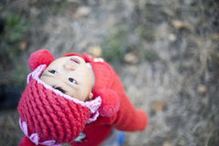 Recht kleines chinesisches Mädchen Lizenzfreies Stockbild