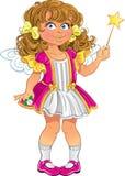 Recht kleines Mädchen im Rosa Lizenzfreies Stockfoto