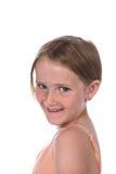Recht kleines Mädchen mit dem kurzen Haar Stockfoto