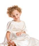 Recht lockiges blondes kleines Mädchen Lizenzfreie Stockbilder