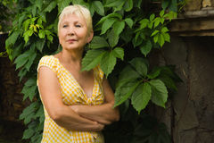Recht ältere Frau Stockfotografie