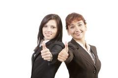 Recht moderne Berufsgeschäftsfrau Stockfoto