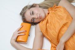 Recht Orange Lizenzfreie Stockfotografie
