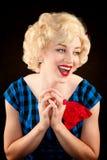 Recht Retro- blonde Frau Lizenzfreie Stockfotografie