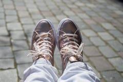 Recht rosa Schuhe Lizenzfreies Stockfoto