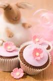 Recht rosafarbene kleine Kuchen Stockbild