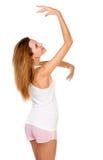 Recht schlankes Mädchen und ihre Anmut Stockfoto