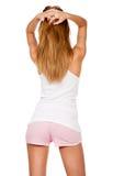 Recht schlankes Mädchen und ihre Anmut Lizenzfreie Stockfotografie