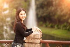 Recht siamesisches Mädchen Lizenzfreies Stockfoto