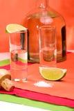 Recht tequilaschot stock foto