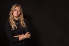 Recht trauriges blondes stockfoto