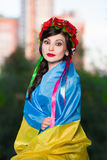 Recht ukrainische Frau Lizenzfreie Stockfotos