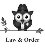 Recht und Ordnung USA Stockfoto
