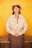 Recht westliche Frau Lizenzfreies Stockfoto
