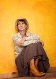 Recht westliche Frau Stockfoto