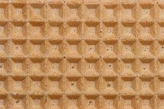 Rechte de textuur van de wafel Royalty-vrije Stock Foto's