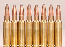Rechte rij van geweerkogels Royalty-vrije Stock Fotografie