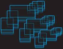 Rechteck-geometrisches Muster Stockfotos