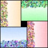 Rechteck-Hintergrund-vertikaler Informations-Farbzusammenfassungs-Satz Stockbilder