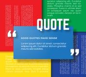Rechteck-Motivations-Zitat-Schablonen-Vektor-Farbe Lizenzfreies Stockbild