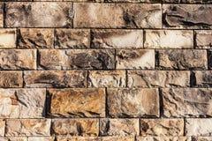 Rechteckiger Granit blockiert Wand-Hintergrund Lizenzfreie Stockfotos