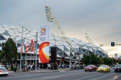 Rechteckiges Stadion Melbournes tagsüber Lizenzfreie Stockbilder