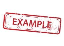 Rechteckstempel - Beispiel lizenzfreie abbildung