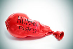 Rechten van de mens Stock Fotografie