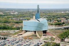 Rechten van de mensmuseum in Winnipeg stock foto's