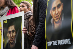 Rechten van de mensprotest Royalty-vrije Stock Afbeeldingen