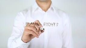 Rechten van de menswet, Zakenman Writing op Glas royalty-vrije stock afbeelding