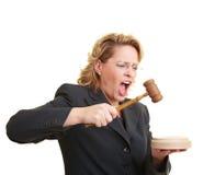 Rechter die hamer gebruikt Royalty-vrije Stock Foto