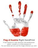 Rechter Druck in den Österreich-Flaggenfarben Lizenzfreies Stockbild