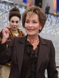 Rechter Judy Sheindlin en Cindy Adams stock afbeeldingen