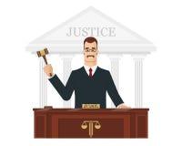 Rechter met hamer Stock Afbeelding