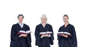 Rechtersgroep stock foto